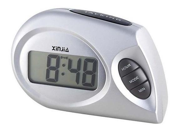 Relógio Despertador Deficiente Visual Fala A Hora Espanhol