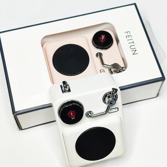 Mini Caixa De Som Bluetooth Retro Feitun A8 - 4w Envio Já