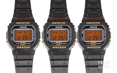 Kit 3 Relógios Masculino Digital Aqua Gp 477 Prova D