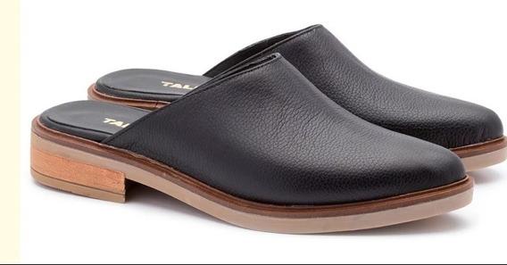 Zapato Mujer Chatitas Slipper Zueco Sandalia Cuero (mendoza)