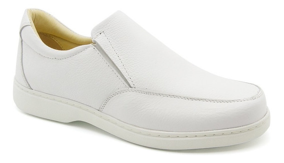 Sapato Masculino 412 Em Couro Floater Branco Doctor Shoes