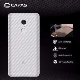 Adesivo Película Traseira Fibra De Carbono Xiaomi Note 4
