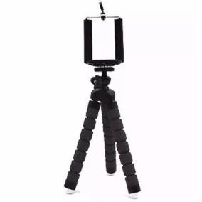 Tripé Flexível Articulado Suporte Celular Selfie Preto