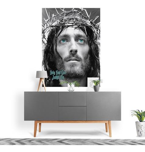 Tecido Decorativo Decoração Tactel Interto Externo Jesus