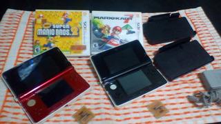 Nintendo Ds 3d R4 + Juegos + Cargador Base Origonal
