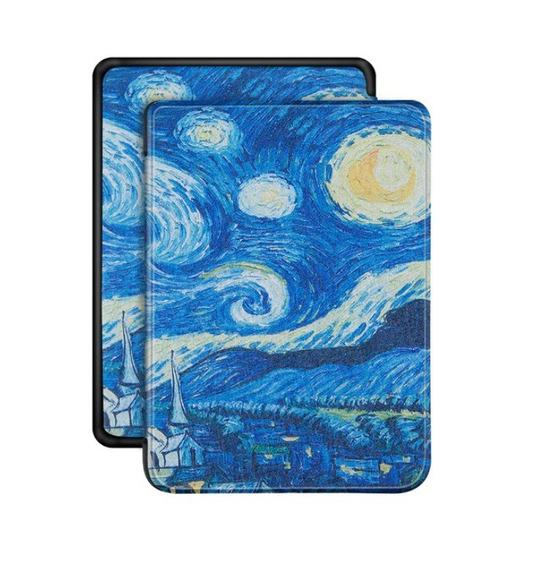 Case Capa Novo Kindle 10ª Geração Van Gogh + 4 Brindes