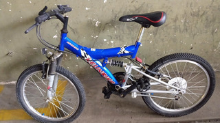 Bicicleta Todo Terreno, 18 Vel, Doble Amortiguacion Rodado20