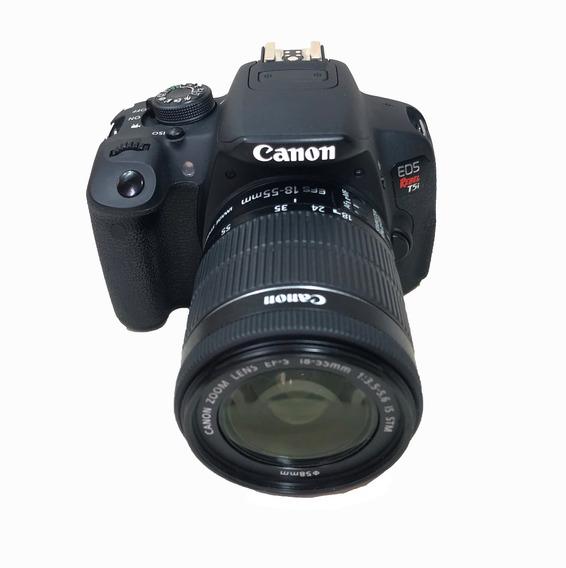Camera Canon T5i C/ Lente 18-55mm Usada Com Garantia