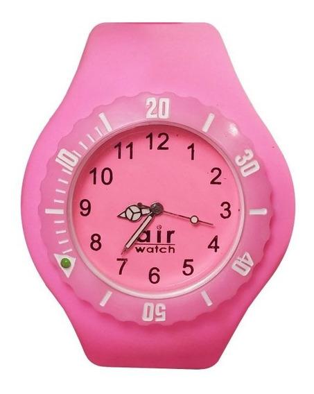 Relógio Pulso Air Watch Pulseira De Silicone M3 Rosa