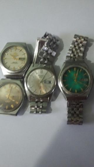 Lote De 4 Relógios Sendo 1 Seiko E 3 Orient (60a)