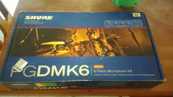Kit Microfonação Shure Pgdmk6 + Cabos Xlr Shure Originais Made In Usa