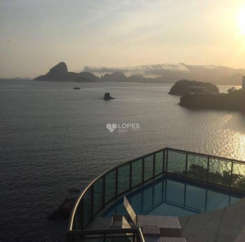 Imagem 1 de 8 de Cobertura Com 5 Dormitórios À Venda, 680 M² Por R$ 8.000.000,00 - Icaraí - Niterói/rj - Co1417