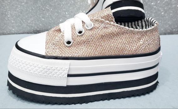 Zapatillas Star Plataforma Xxl Niña Kids Moda Envio Gratis