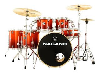 Bateria Nagano Concert Full Lacquer Er Smoke Red