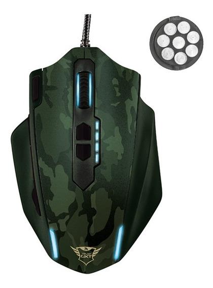 Mouse Gamer Usb Trust Caldor 4000dpi Rgb Peso Personalizável