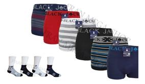 Kit Com 10 Cuecas Boxer/box Black Jack E 6 Pares De Meias