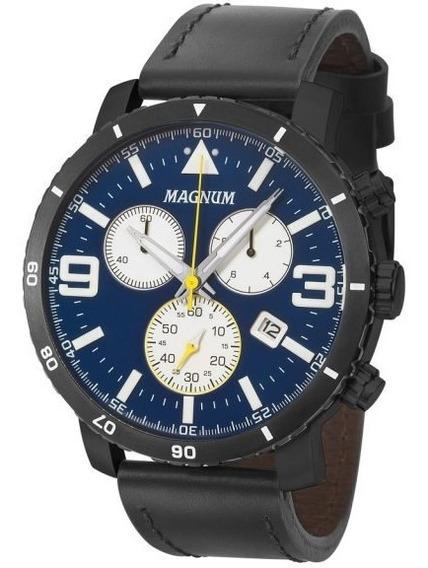 Lançamento Relógio Magnum Azul Ma34932a C/2 Anos Gar +frete