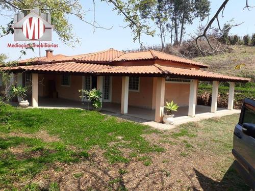 Linda Chácara Com 2 Dormitórios, Vista Deslumbrante Para As Paisagens,  À Venda, 5800 M² Por R$ 290.000 - Rural - Socorro/sp - Ch0750