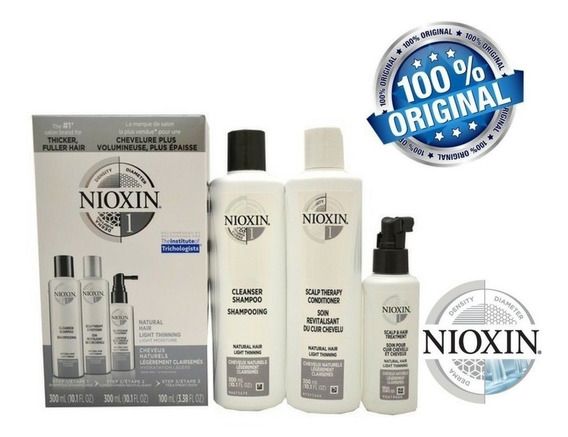Nioxin Kit 1 - Sh 300ml + Cond 300ml + Leave In 100ml