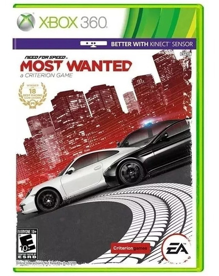 Jogo Need For Speed Most Wanted Xbox 360 Mídia Física Novo