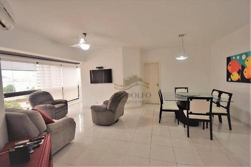 Apartamento Com 2 Dormitórios À Venda, 110 M² Por R$ 560.000,00 - Praia Das Astúrias - Guarujá/sp - Ap0974
