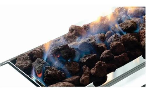 Pedra Vulcânica Marron Para Lareira Churrasqueira Pacote 5kg