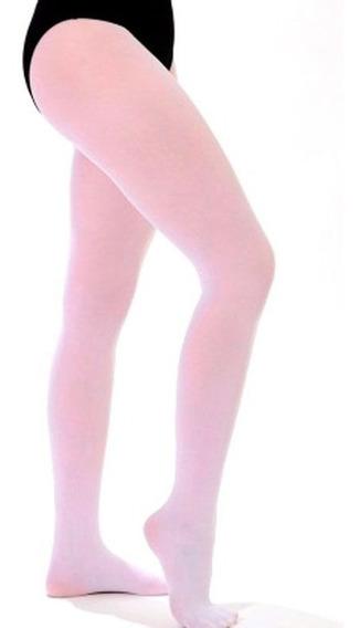 Meia Calça Ballet Com Pé Rosa
