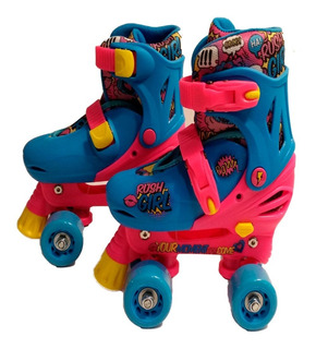 Patines Rush Girl 4 Ruedas Ajustables 19-22 Cm. Originales