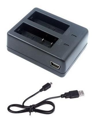 Carregador Duplo Bateria Sjcam Sj4000 Sj5000