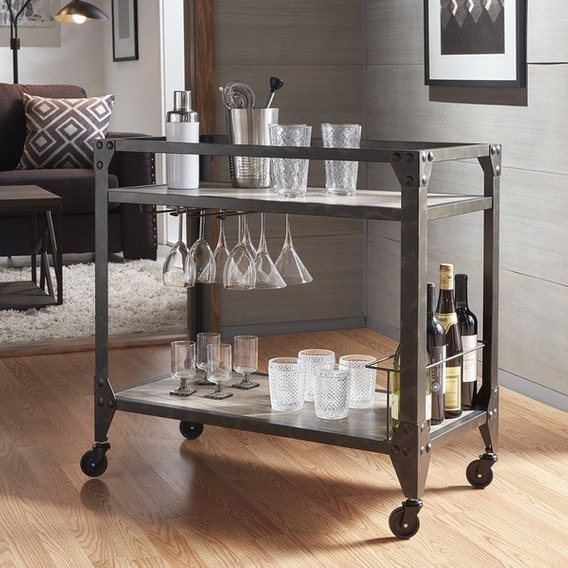Mesa Aparador Para Bebidas Em Aço Inox