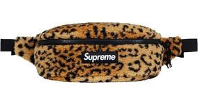 Supreme Leopard Fleece Waist Bag Fw17 Mariconera Shoulder