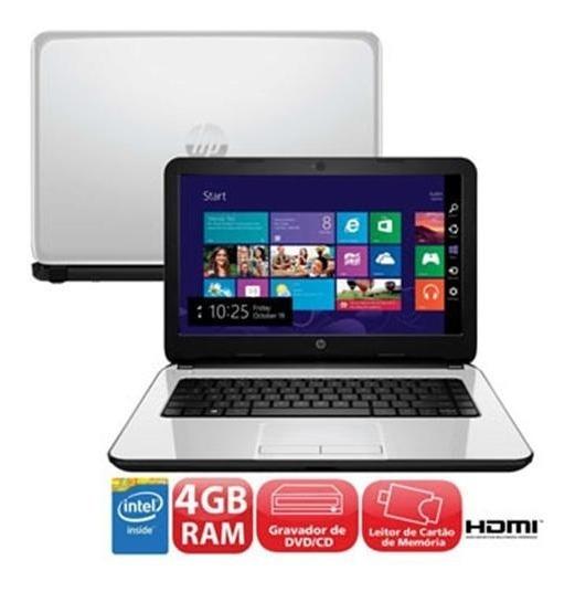 Notebook Hp 14-r050br Com Intel® Dual Core N2830, 4gb, 500g