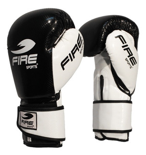 Guantes De Box Muay Thai Kick Fire Sports 12oz O 14oz Negro