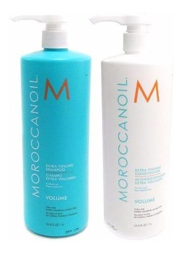 Imagen 1 de 3 de Moroccanoil Kit Shampoo X1000 + Acondicionador X1000 Volume
