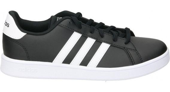 Tenis adidas Grand Court K - Negro - Niños Unisex Originales Negro/blancos