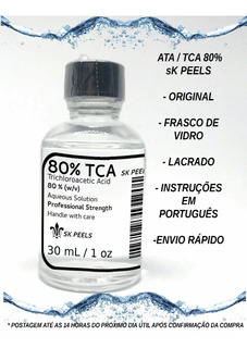 Tca Ata 80% - Tricloroacético - 30 Ml - Único Original