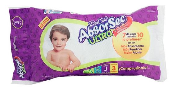 Pañales Kleen Bebé Absorsec Ultra Jumbo 3 Pzas