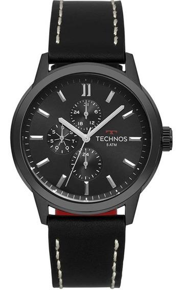 Relógio Masculino Technos Classic Analógico 6p27dr/2p - Pret