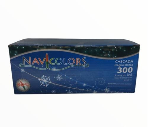 Imagen 1 de 5 de Serie Navideña Cascada 300 Blanco Frio 5mts Cable Transparen