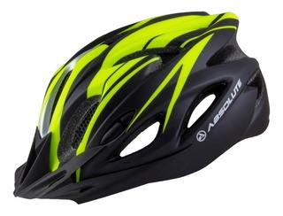 Capacete Ciclismo Bike Absolute Nero Wt012 Led Pisca Viseira