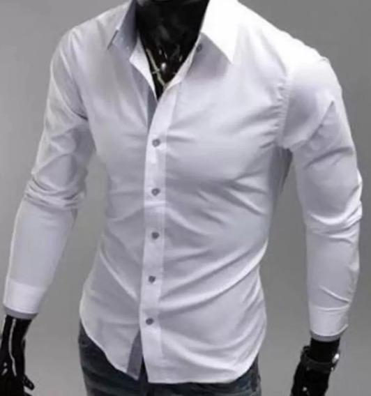 Camisa Social Masculina Da Fábrica Branca