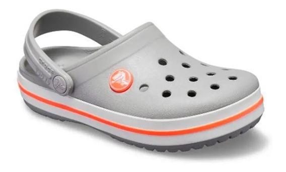 Crocs Crocbands Gris Naranja Unisex Rcmdr