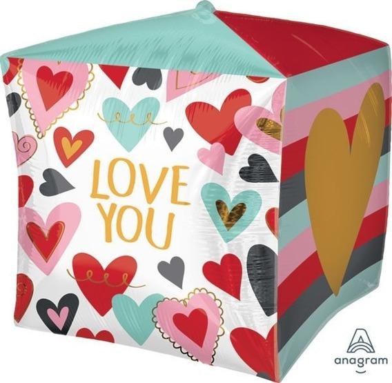 Globo Orbz Cubez 3d Love You Amor Y Amistad