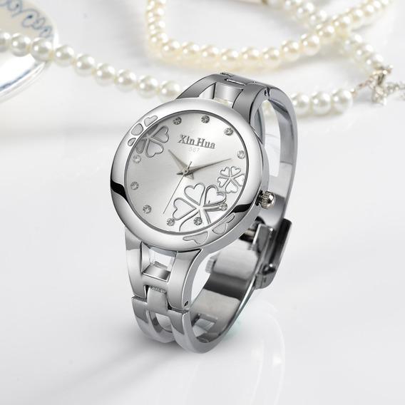 Promoção Relógio Bracelete Feminino Aço Inox Barato Fashion