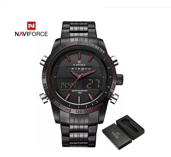 Relógio Masculino Naviforce 9024 Analógico Digital Original