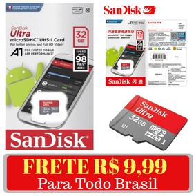 Cartão De Memória Sandisk Micro Sd Ultra 32gb Genuíno 98mb/s