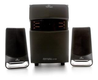 Yeyian Serie 2100 Bocinas Bluetooh Estereo 2.1 Sd Usb Radio,