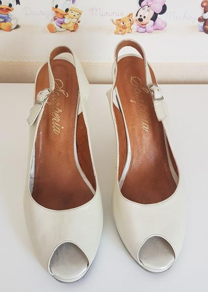 Zapatos Stiletto Cuero Scarperia Novia