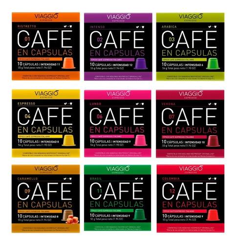 Cápsulas Café Para Nespresso - Pack 90 Viaggio Espresso