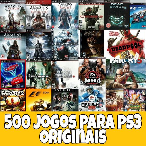 Pacote De 500 Jogos Para Ps3 Bloqueado Original + Brinde